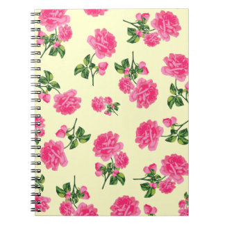 English Country Garden Pink floral notebook