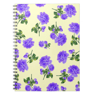 English Country Garden Purple floral notebook