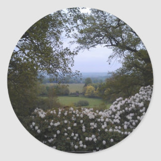 English Countryside Classic Round Sticker