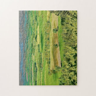 English countryside illustration jigsaw puzzle