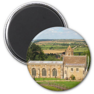 English countryside pictures Rockingham Castle (3) 6 Cm Round Magnet