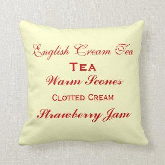 English Cream Tea Pillow