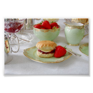 English Cream Tea Poster