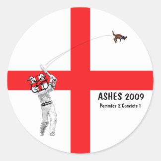 English cricket classic round sticker