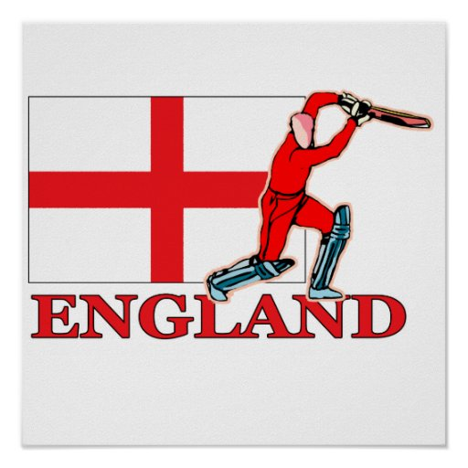English Cricket Player Poster