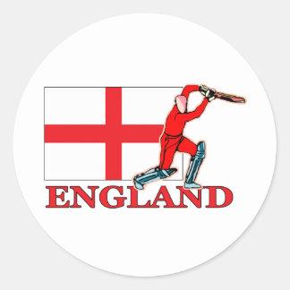 English Cricket Player Round Stickers