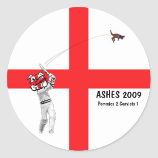 English cricket round sticker