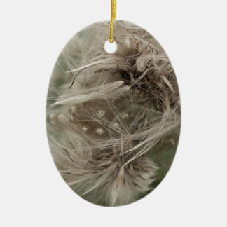 English dandilion clot ceramic oval decoration