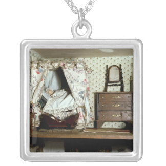 English Doll's House Silver Plated Necklace