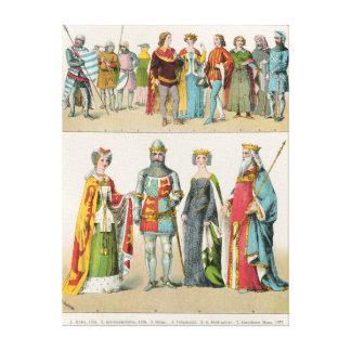 English Dress Canvas Print