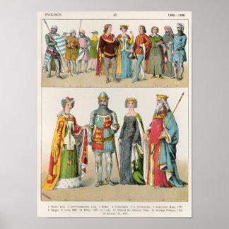 English Dress Posters