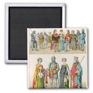 English Dress Square Magnet