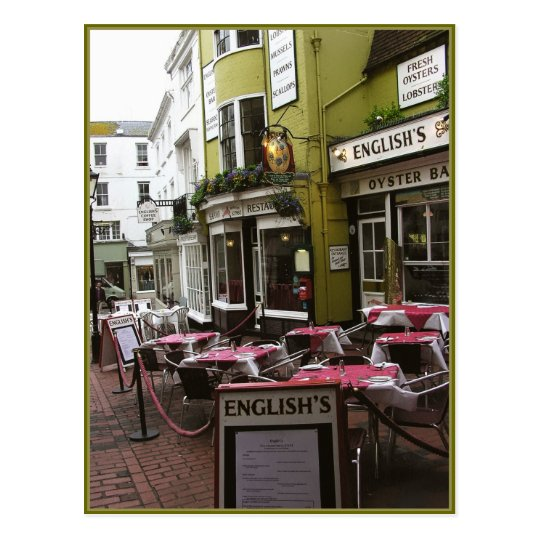 English Eatery Alley, Brighton (UK) Postcard