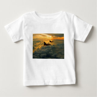 English Electric Lightning sunset flight Baby T-Shirt
