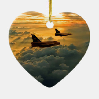 English Electric Lightning sunset flight Christmas Ornament