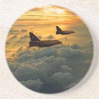 English Electric Lightning sunset flight Drink Coaster