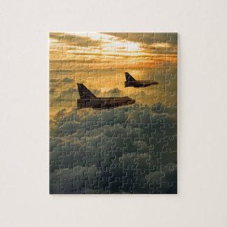 English Electric Lightning sunset flight Jigsaw Puzzle