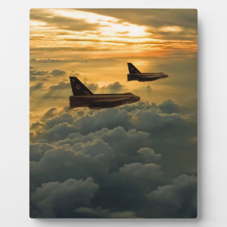 English Electric Lightning sunset flight Photo Plaques