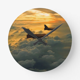 English Electric Lightning sunset flight Round Clock