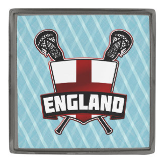 English England Flag Lacrosse Logo Lapel Pin