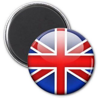 English Flag 2.0 6 Cm Round Magnet