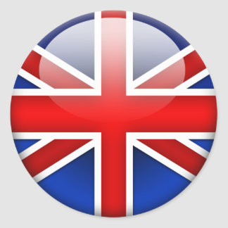 English Flag 2.0 Round Sticker