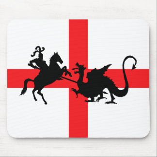 English flag George and the Dragon Mouse Pad