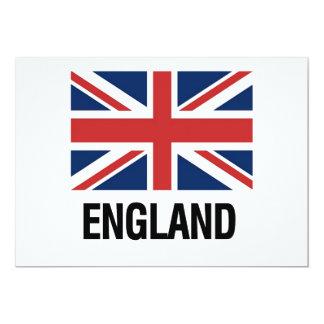 English Flag 13 Cm X 18 Cm Invitation Card