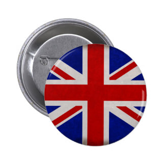 English flag of England textured 6 Cm Round Badge