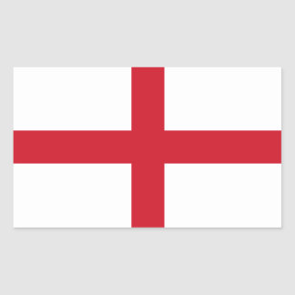 English Flag Rectangular Sticker