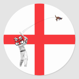 English flag round stickers