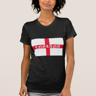English Flag White Text T-Shirt