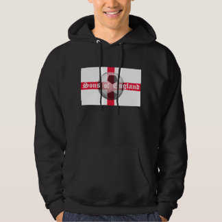 """English Flag with """"Sons of England"""" and Football Hoodie"""