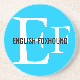 English Foxhound Breed Monogram Drink Coaster