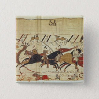 English & French soldiers fall side by side 15 Cm Square Badge