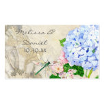 English Garden, Blue n Pink Hydrangeas Watercolor Pack Of Standard Business Cards