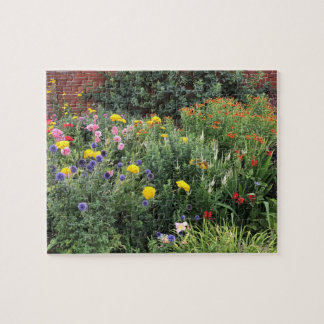 English Garden, Colourful, Flower Border Jigsaw Puzzle