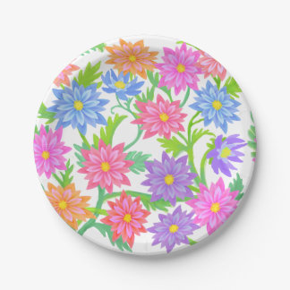 English Garden Floral Paper Plates