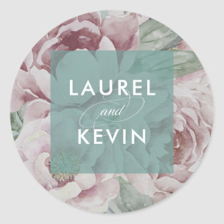 English Garden Floral Wedding Stickers | Jade