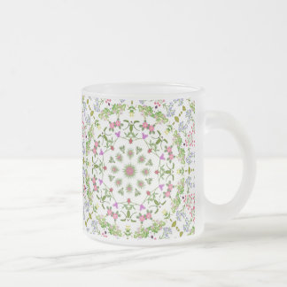 English Garden Flowers Frosted Mug