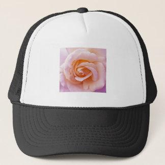 English Garden Peach and Pink Rose Trucker Hat