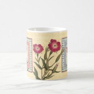 English Gardener Cottage Botanical Collage Coffee Mugs