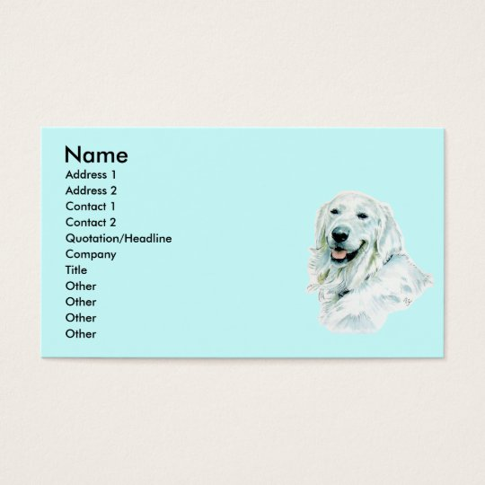 English Golden Retriever Business Cards