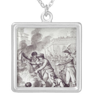 English goods burnt in Amsterdam Silver Plated Necklace