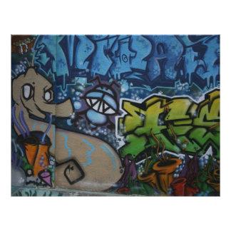 English Graffiti Flyers