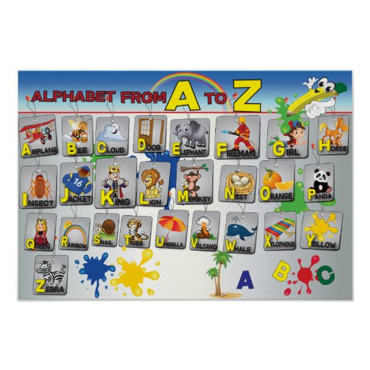 English Grammar Alphabet poster