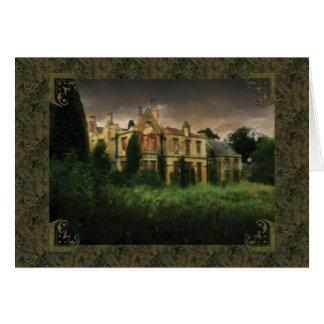 English Haunted Hall Card