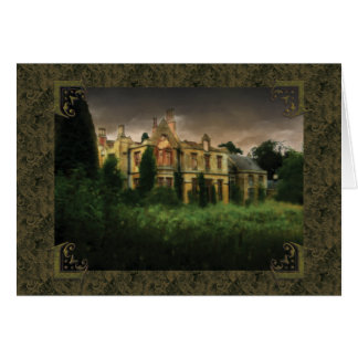 English Haunted Hall Greeting Card