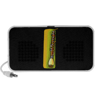 English Horn, Brown with yellow green back graphic Notebook Speaker