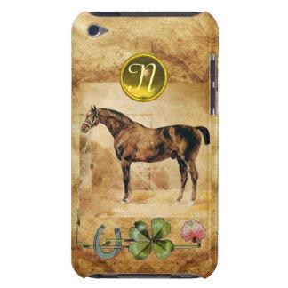 ENGLISH HORSE ,HORSESHOE AND SHAMROCK  MONOGRAM iPod TOUCH CASE